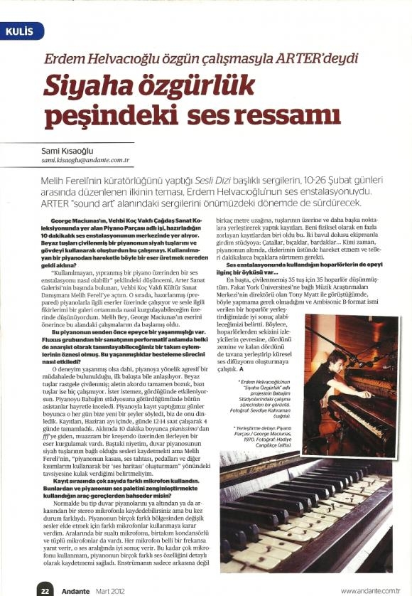 Andante Dergisi Mart 2012