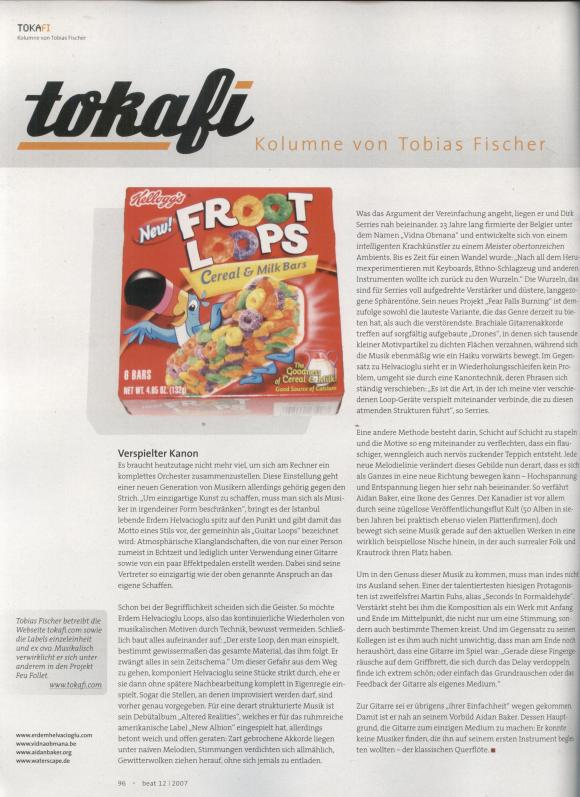 Beat Magazine December 2007