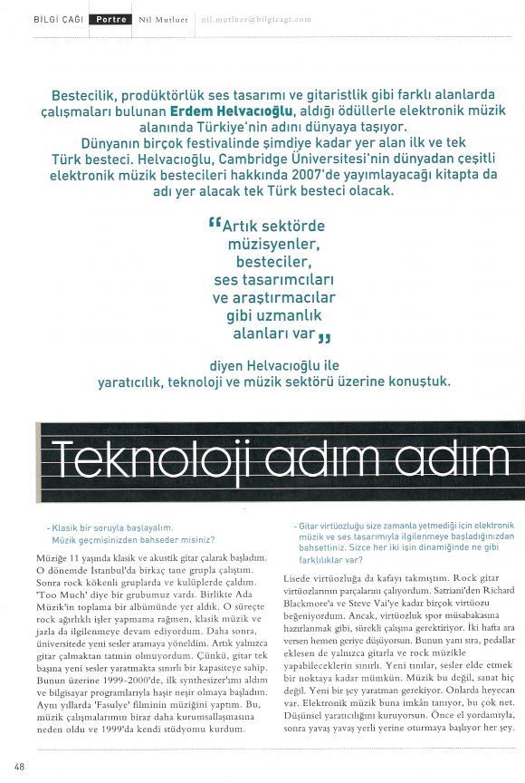 Bilgi Çağı dergi Mart 2007