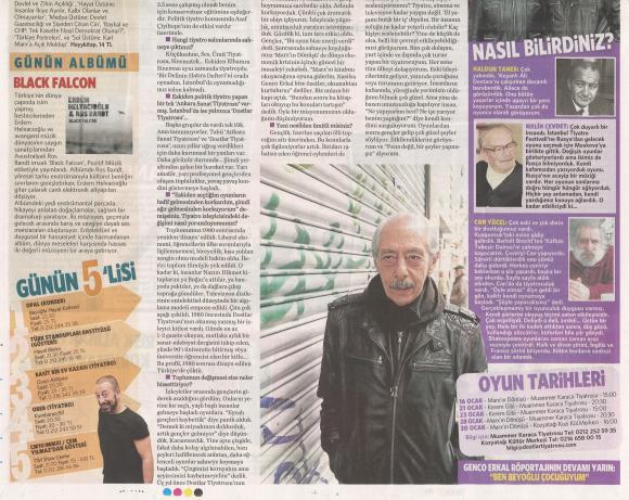 Milliyet gazetesi 10 Ocak 2011