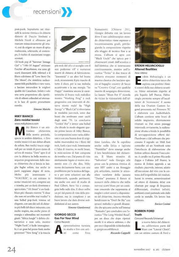 Chitarre Magazine November 2007