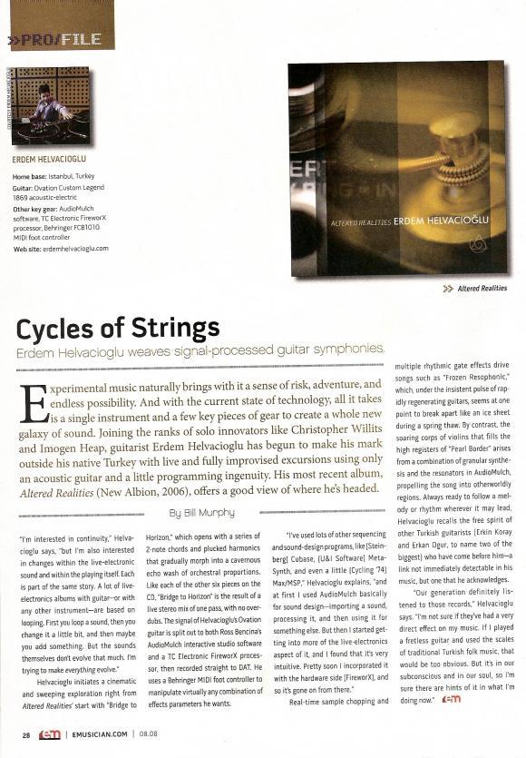 Electronic Musician Magazine July 2008