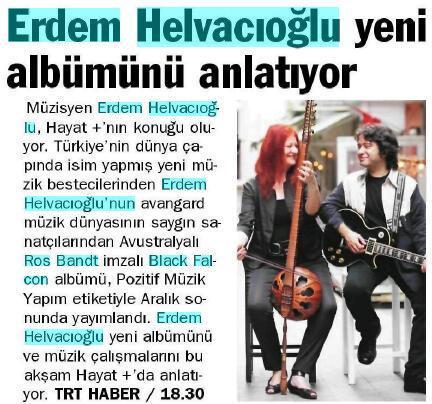 Yeni Şafak gazetesi 13 Ocak 2011