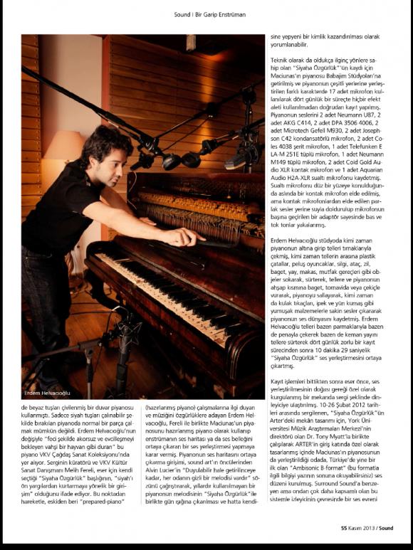 Sound dergisi Kasım 2013