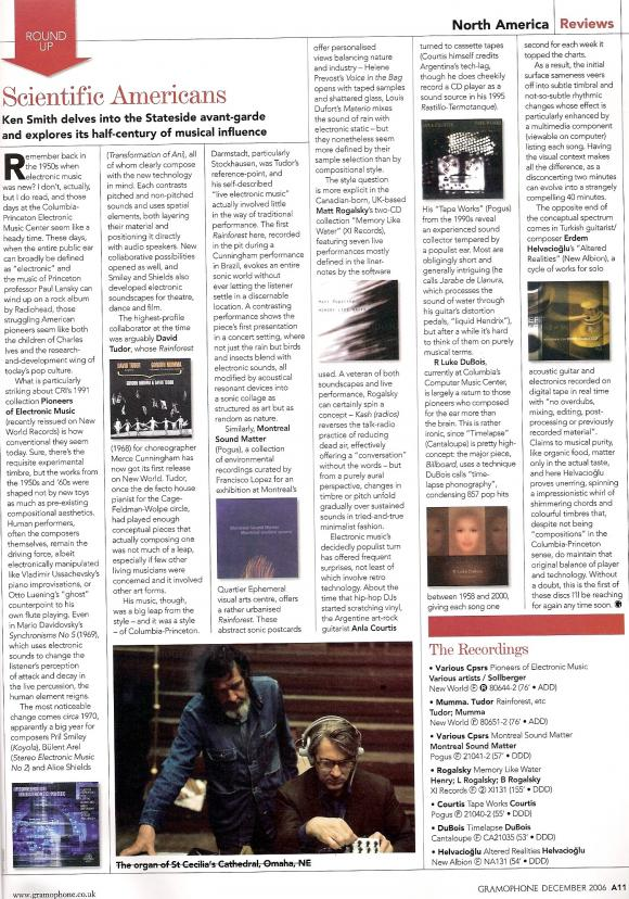 GRAMOPHONE Magazine December 2006