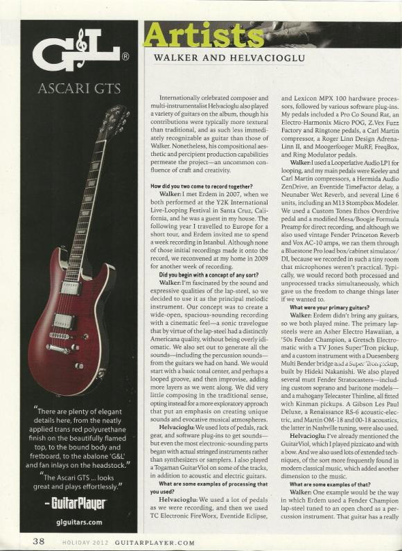 Guitar Player Magazine 2012 Holiday Issue