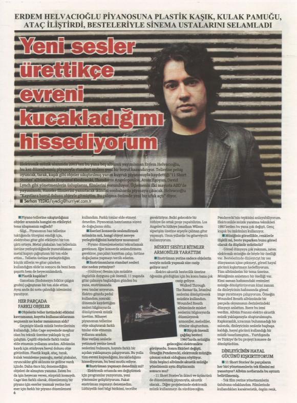 Hürriyet Gazetesi Keyif Eki 5 Ağustos 2012