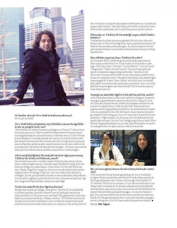 MAG Dergi Röportaj Şubat 2013