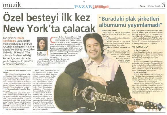 Milliyet gazetesi 10 Şubat 2008