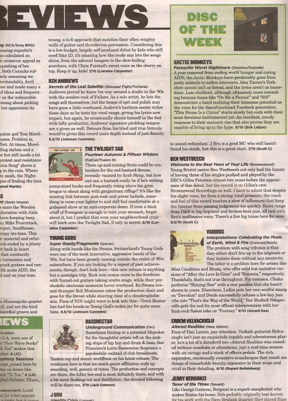 Montreal Mirror Magazine April 2007