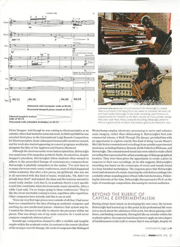 MUSICWORKS magazine Spring 2013 interview