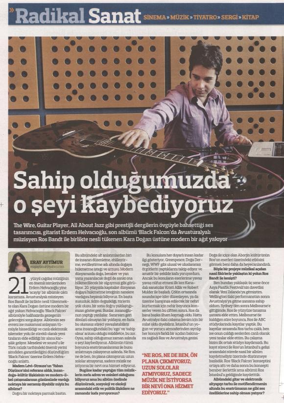 Radikal gazetesi Şubat 2011