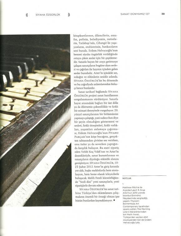 Sanat Dünyamız Dergisi Mart 2012
