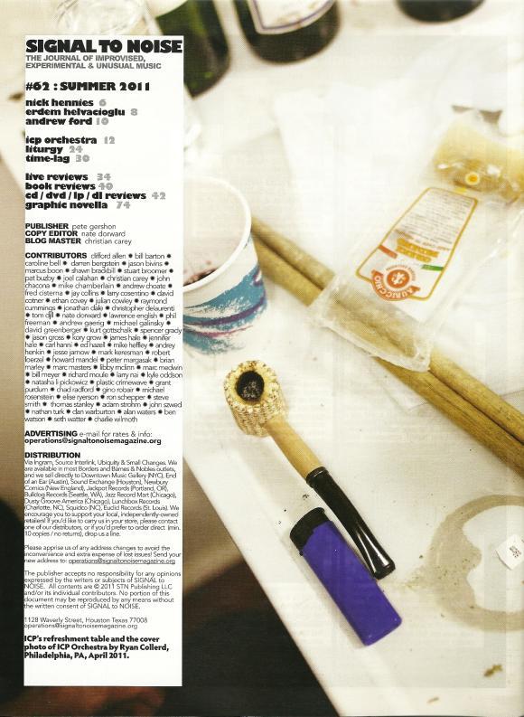 SIGNAL TO NOISE Magazine Summer 2011