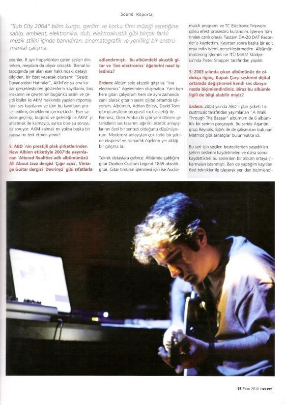 Sound dergi Ekim 2010