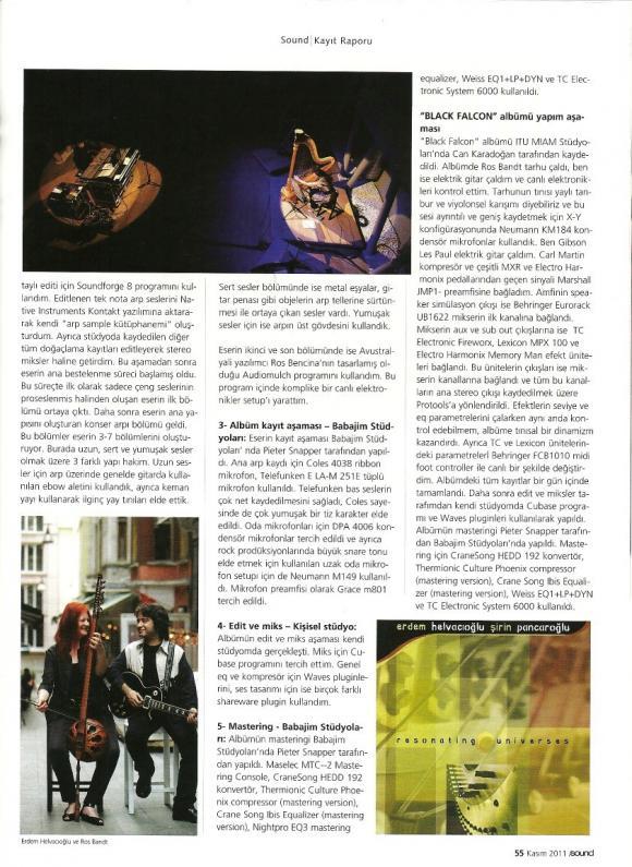Sound Dergi Kasım 2011