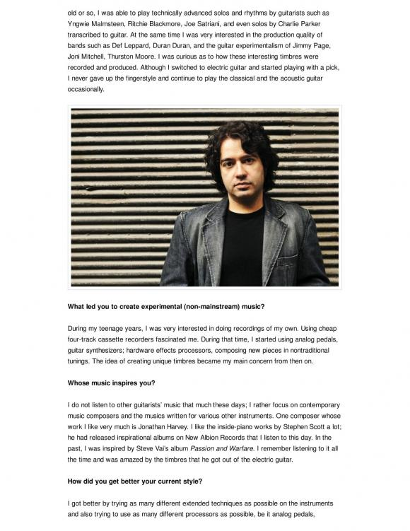 Guitar Moderne Magazine July 2012