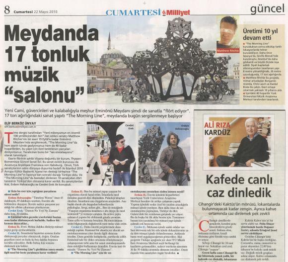 The Morning Line Milliyet Mayıs 2010