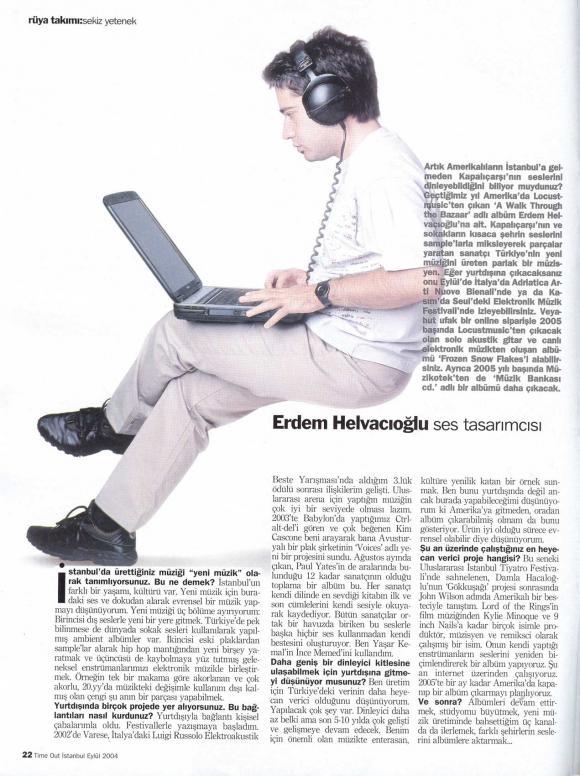 TIME OUT dergi Eylül 2004